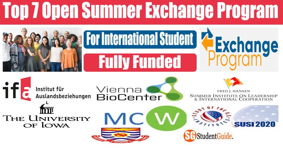 Top 7 Open Summer Exchange Program For International Student (Fully Funded)