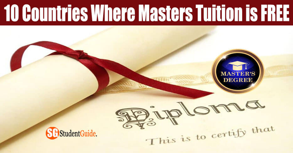 10 Countries Where Masters Tuition is FREE (or Almost Free) In 2020
