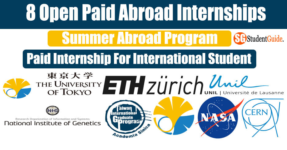Top 8 Open Paid Abroad Internships For International Student