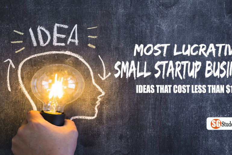 26 Most Lucrative Small Startup Business Ideas That Cost Less Than $100