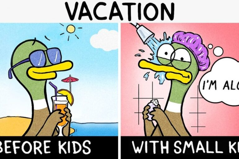 10 Delightfully Truthful Illustrations That Every Mom and Dad Will Understand