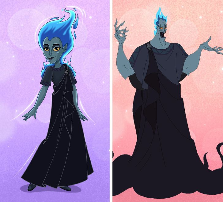 What 8 Male Disney Villains Would Look Like If They Were the Opposite Gender
