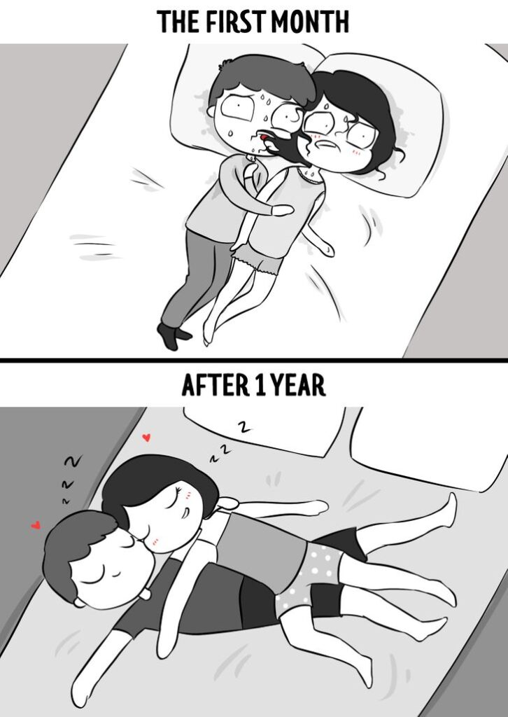 8 Comics Showing a Relationship in the First Month vs a Year Later