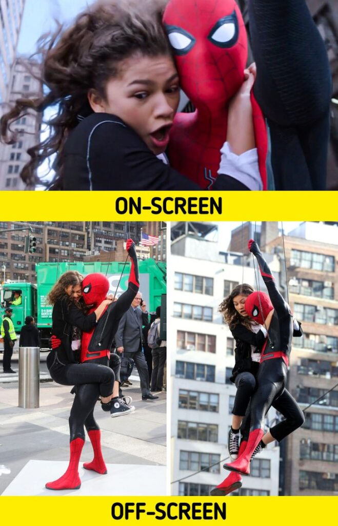 9 Photos Showing What Really Happens Behind the Scenes of Popular Movies