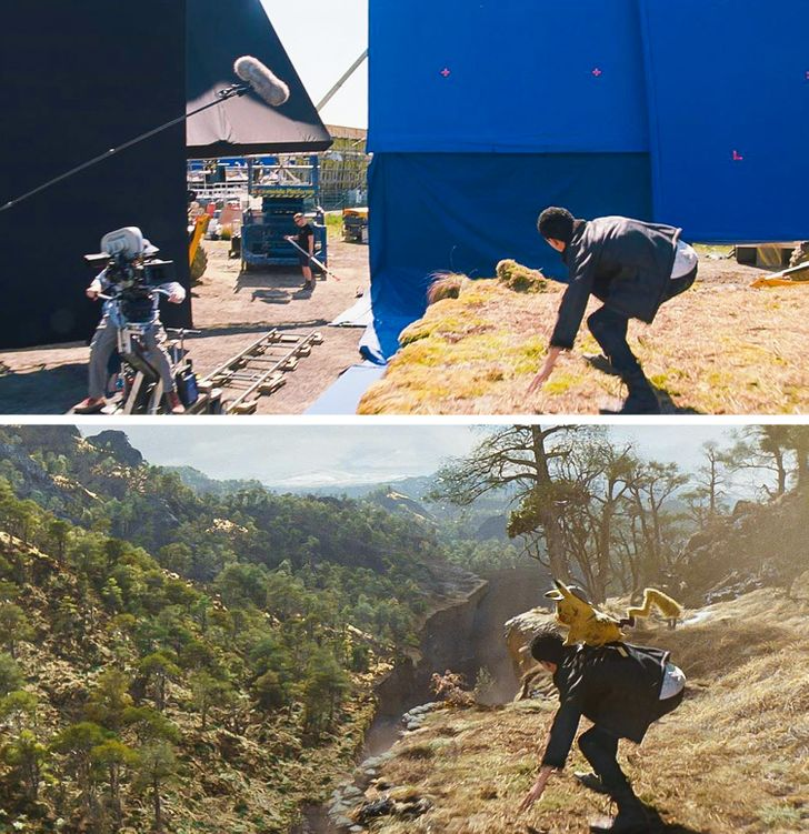 8 Photos Showing What Actually Happens on Hollywood Movie Sets