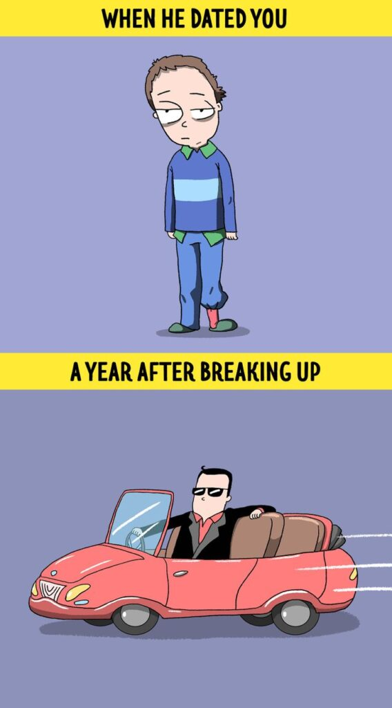 8 Ironic But Honest Comic Strips About Exes