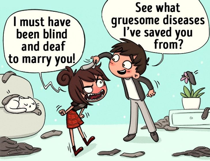 8 Comic Strips Showing That Dating Sarcastic People Is a Lot of Fun